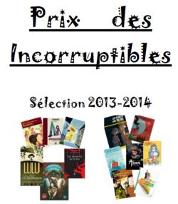 La couverture du livret des incos 2014