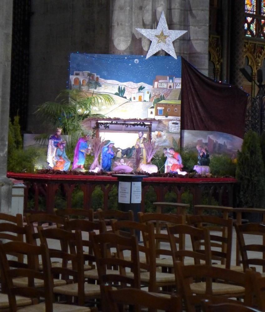 La crèche de la Cathédrale Saint-André à Bordeaux...