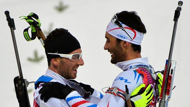 Martin Fourcade et Jean-Guillaume Beatrix