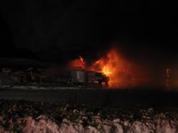 Le 8 janvier 2013 : Les Produits Gilbec Ltée de La Guadeloupe est la proie des flammes,