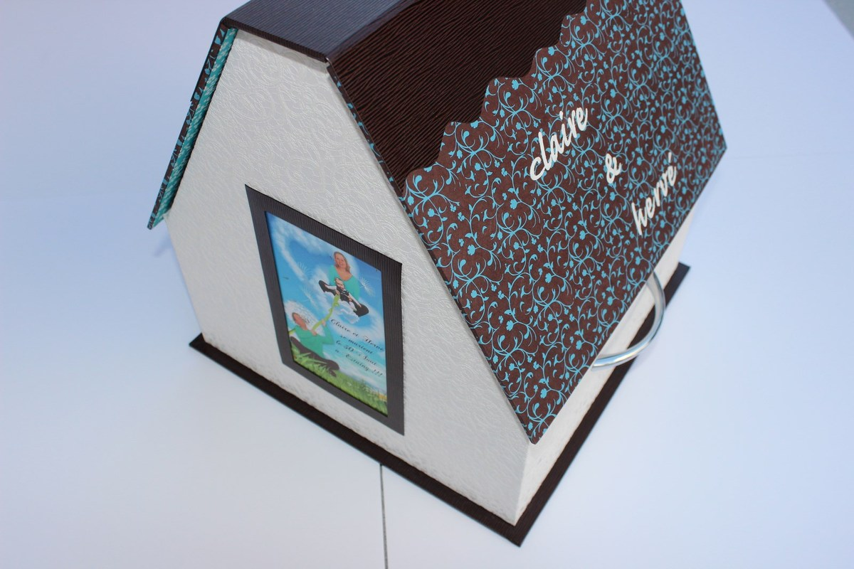 Cartonnage : urne de mariage maison