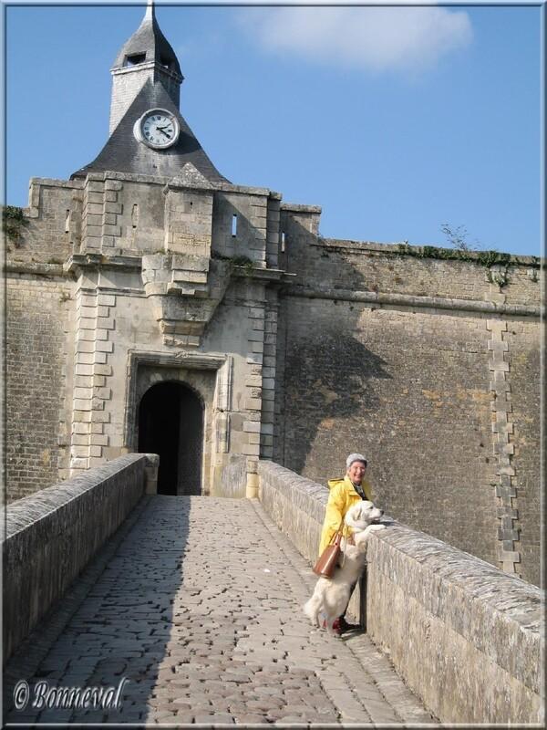 Citadelle de Blaye Gironde la Porte Dauphine et le pont désaxé