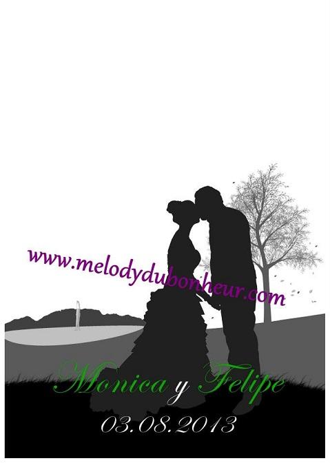 Dessin souvenir pour mariage