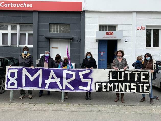 Le 8mars 2021, les manifestants appellent à la grève.