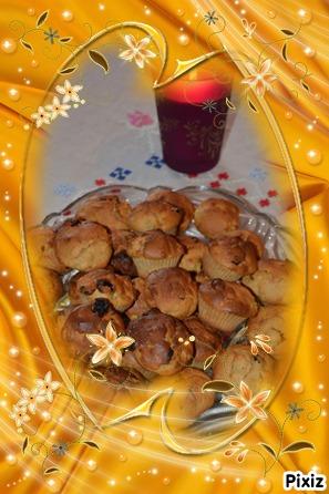 Petits gâteaux au mascarpone, pomme, amande & spéculos