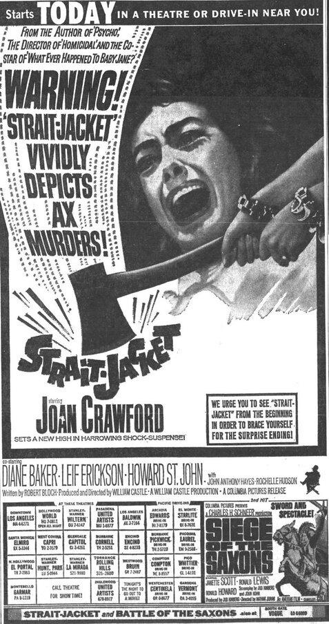 STRAIT JACKED BOX OFFICE 1964