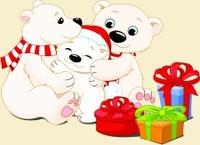 Lulu l'Ours polaire - Cartes joyeux Noël !