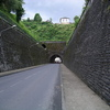 Arrivée à Uzerche par le tunnel sur l'ex RN20.