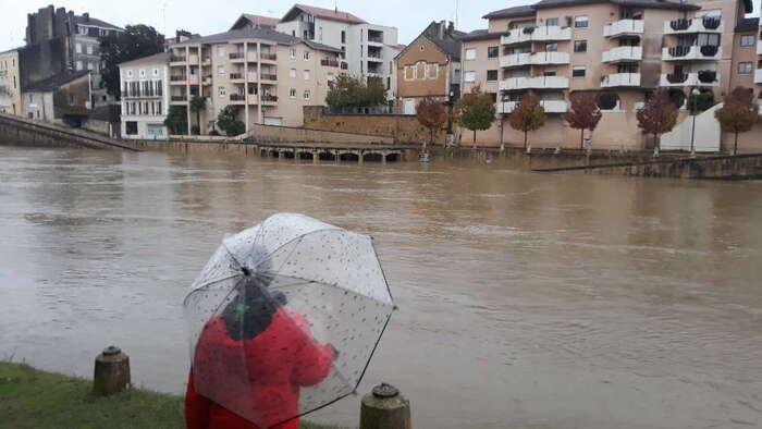 Les Landes sous l'eau