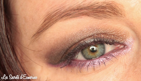 makeup, maquillage, marron, violet, kiko, color impact