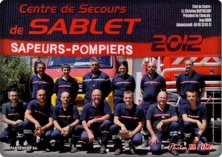 Pompiers de Sablet