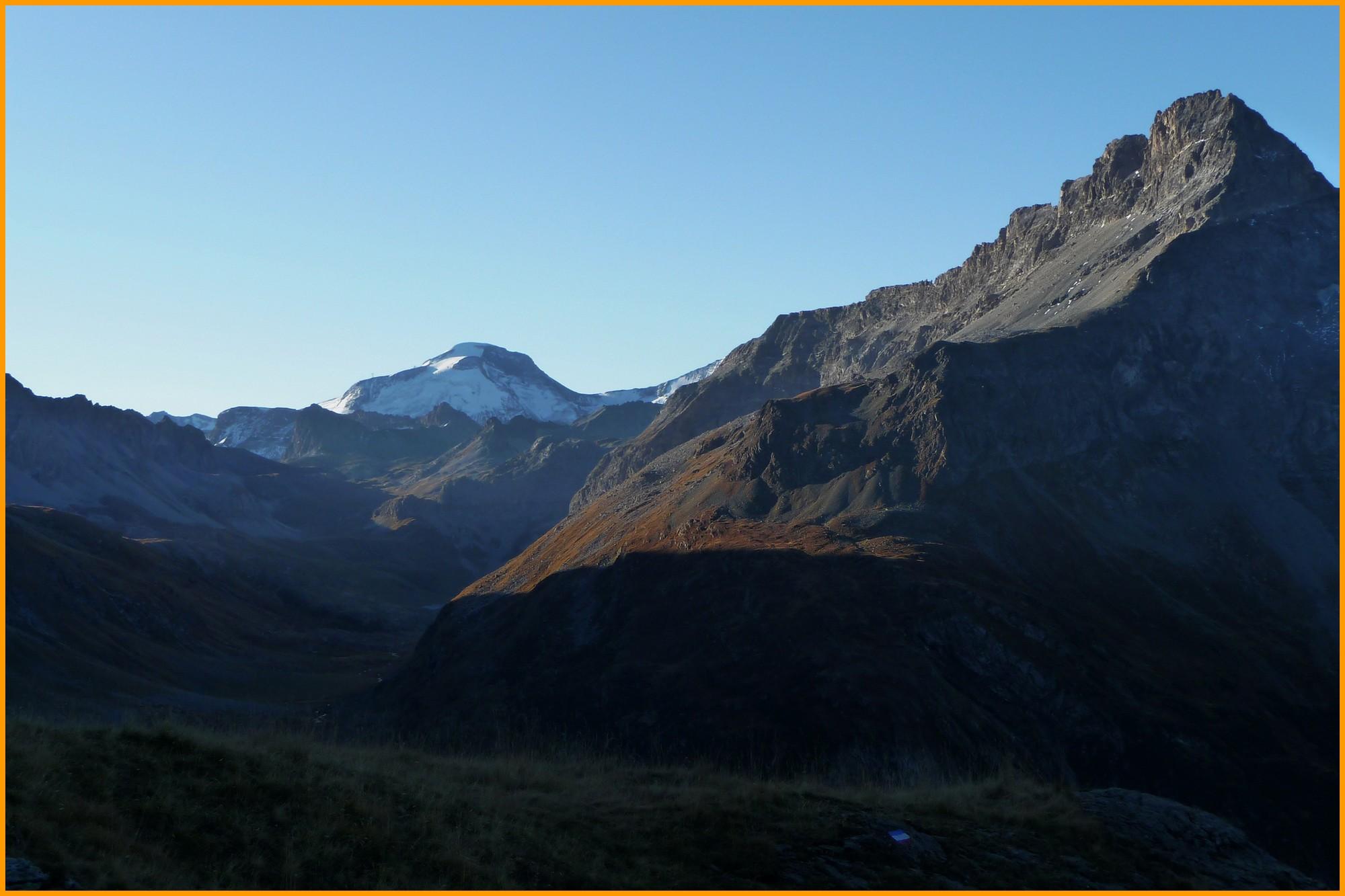 Lever du soleil sur la Grande Motte (3.653 m)