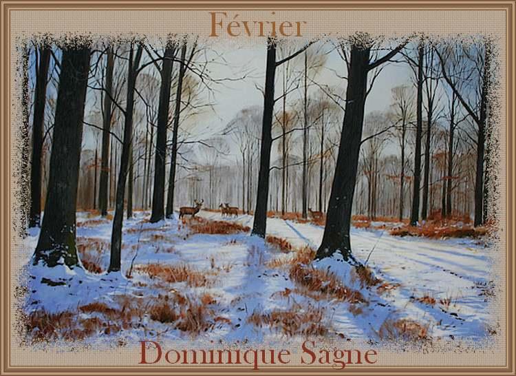 Février : poème de Dominique Sagne