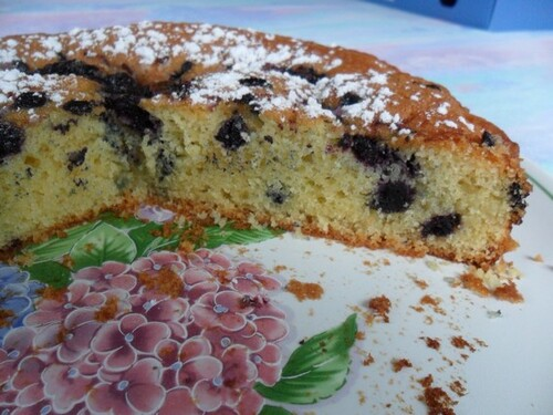 *** Gâteau moelleux aux amandes et myrtilles ***