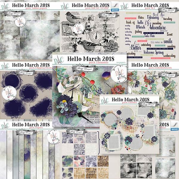 Hello March 2018 { Bundle PU } by Florju Designs