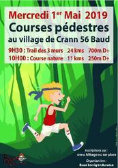 Course Nature Baldivienne et Trail Baldivien des 3 murs - Mercredi 1er mai 2019