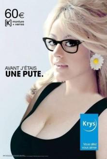 Zahia Dehar publicité Krys détournée