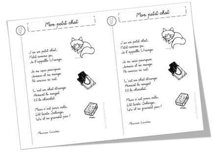 Poèmes chats