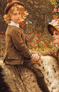 The Garden Bench (detail 2) - James Jacques Joseph Tissot - www.jamestissot.org