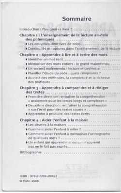 Apprendre à lire - GOIGOUX ET CEBE - éditions RETZ