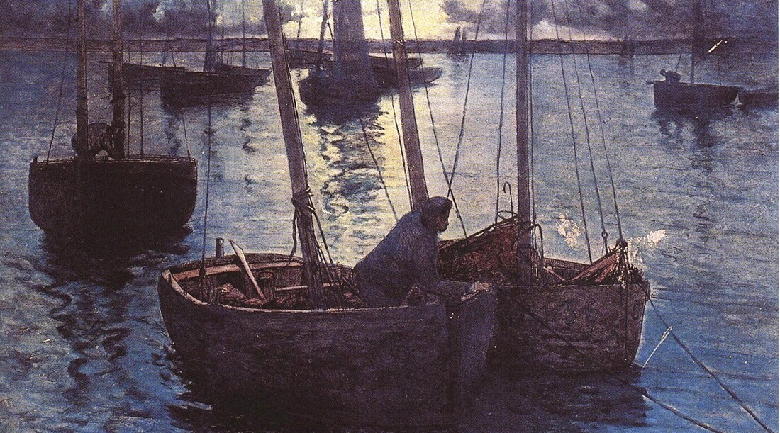 Camaret 2 /     1885-soleil couchant ...