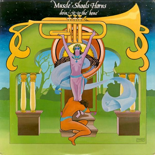 "Muscle Shoals Horns : Album "" Doin' It To The Bone "" Ariola Records America ‎ST-50021 [ US ]"