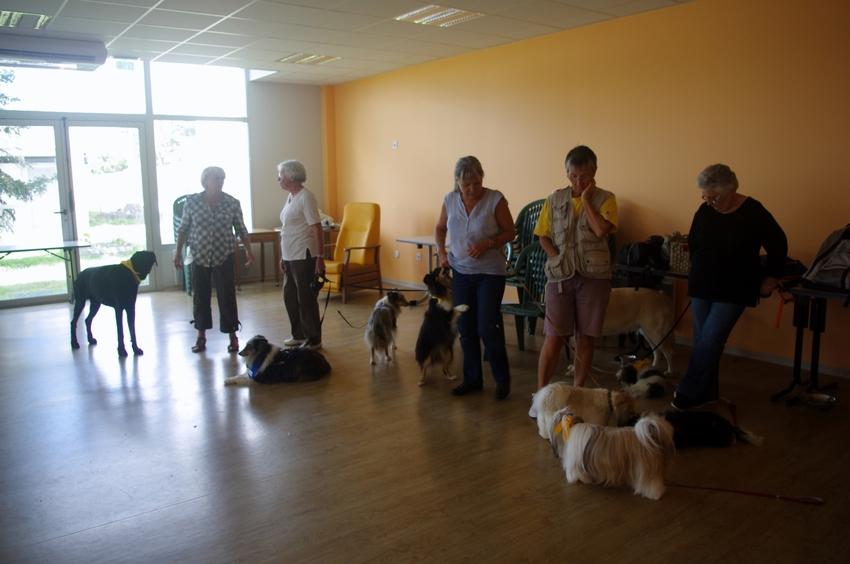 Visite à la maison de retraite de Etaules le 23 septembre 2015