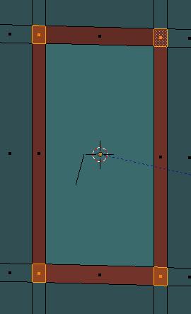 Sélection les 8 coins (4 de chaque côté de la porte)