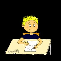 Dessins pour l'école - Ecrire
