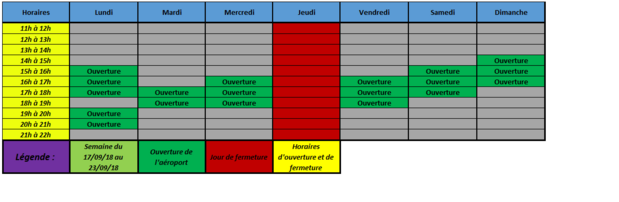 Planning Horaires