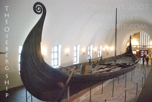 le navire d'Oseberg -mausolée