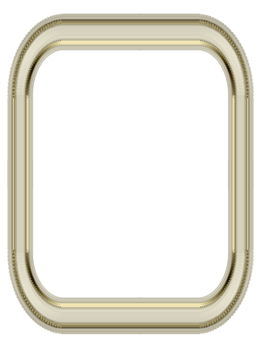 Cadres or série 6, or et ivoire