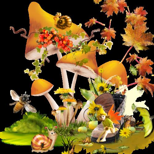 tubes clusters, scraps, automne