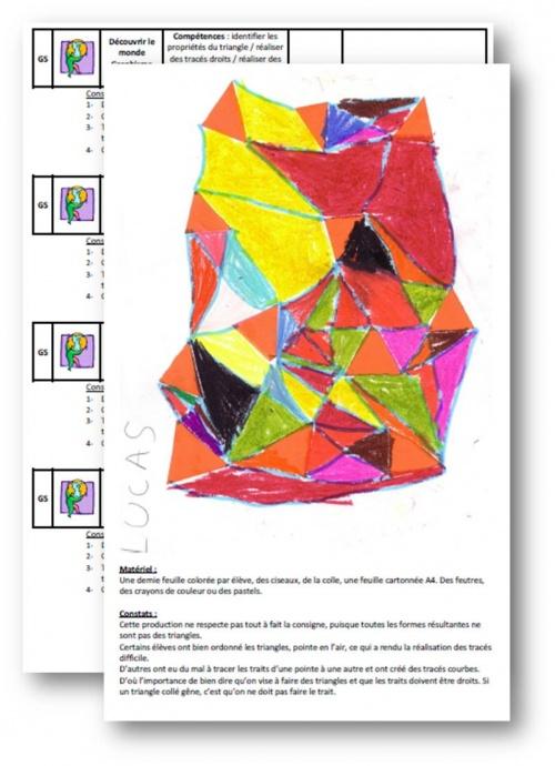 GS Création artistique autour du triangle