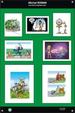Exposition itinérante de dessins humoristiques sur le vin