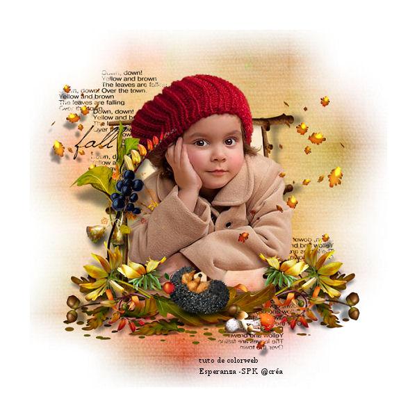 la petite fille et l automne