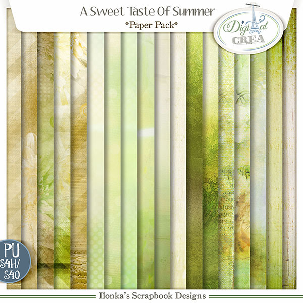 A Sweet Taste Of Summer Paper Pack by Ilonkas Scrapbook Designs