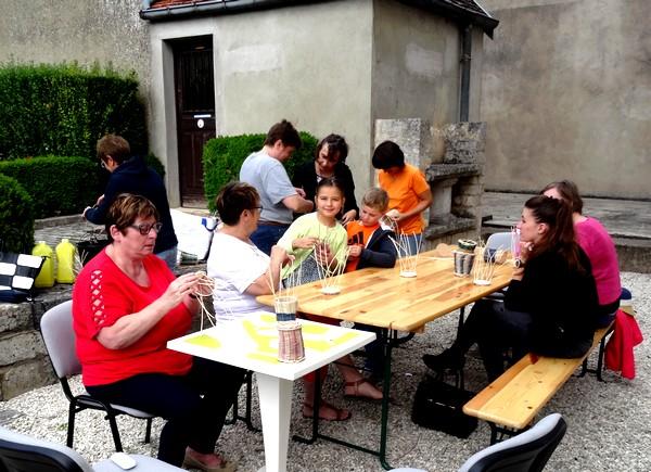 """Une animation """"vannerie"""" a eu lieu à l'Office du Tourisme de Châtillon sur Seine"""
