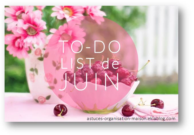 ✿ Ma to-do list du mois de juin.