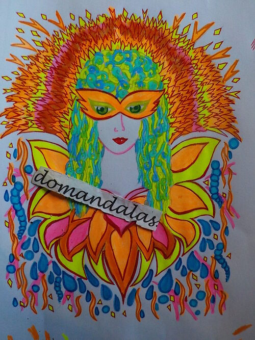 DOMANDALAS coloriage FANCIFUL FACES SUITE