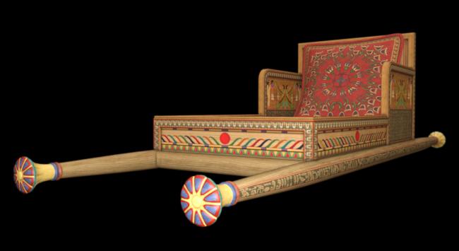Tube de chaise Egypte antique (render-image)