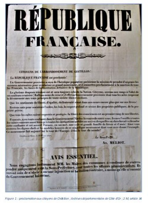 """Les principes républicains de la Seconde République en 1848"", un notule d'hisoire de Dominique Masson"