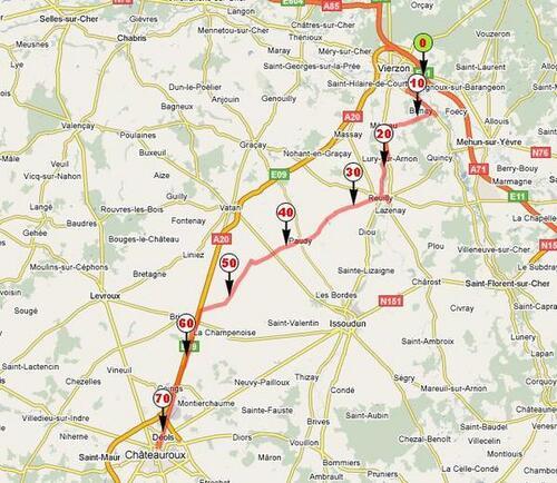 Etape 04-Vierzon(18)-Chateauroux(36)