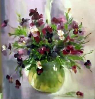 Dessin et peinture - vidéo 1550 : Un bouquet de fleurs en ...