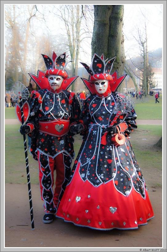 Annecy, carnaval vénitien (en rouge)