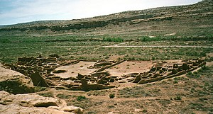 Chaco Canyon, vestige du village