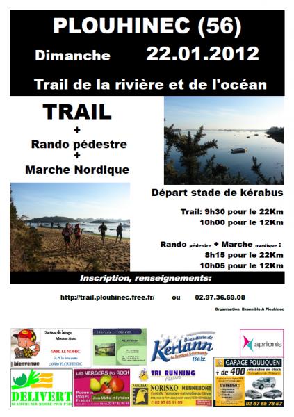 3ème Trail de la Rivière et de l'Océan - Plouhinec dim. 22 janvier 2012