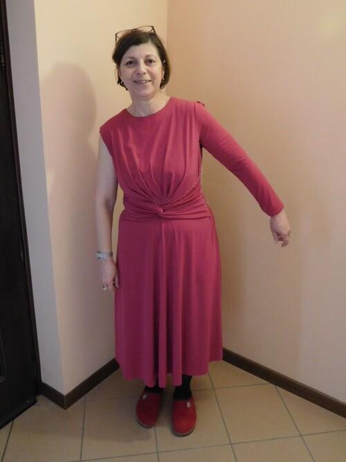 Robe drapée Modèle 101 Burda 1/2018