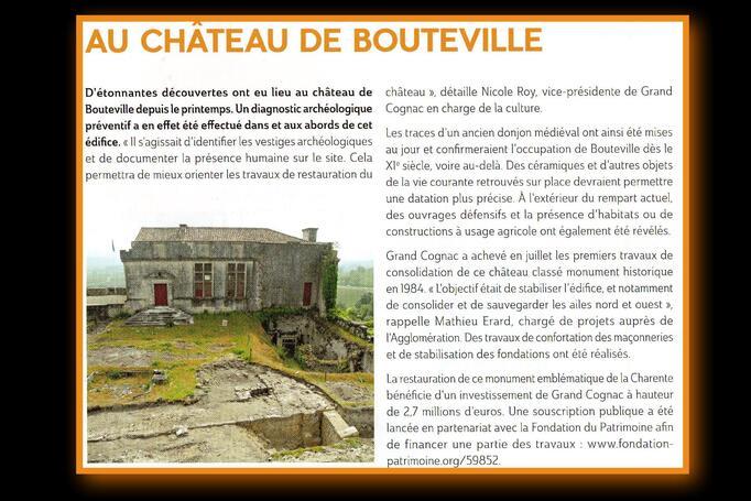 95 Rénovation du Château de Bouteville 2011 - (pavage du pont)