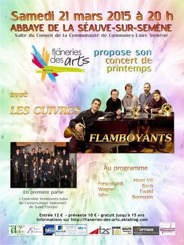 Flâneries de Printemps le 21 mars 2015 : CONCERT avec LES CUIVRES FLAMBOYANTS
